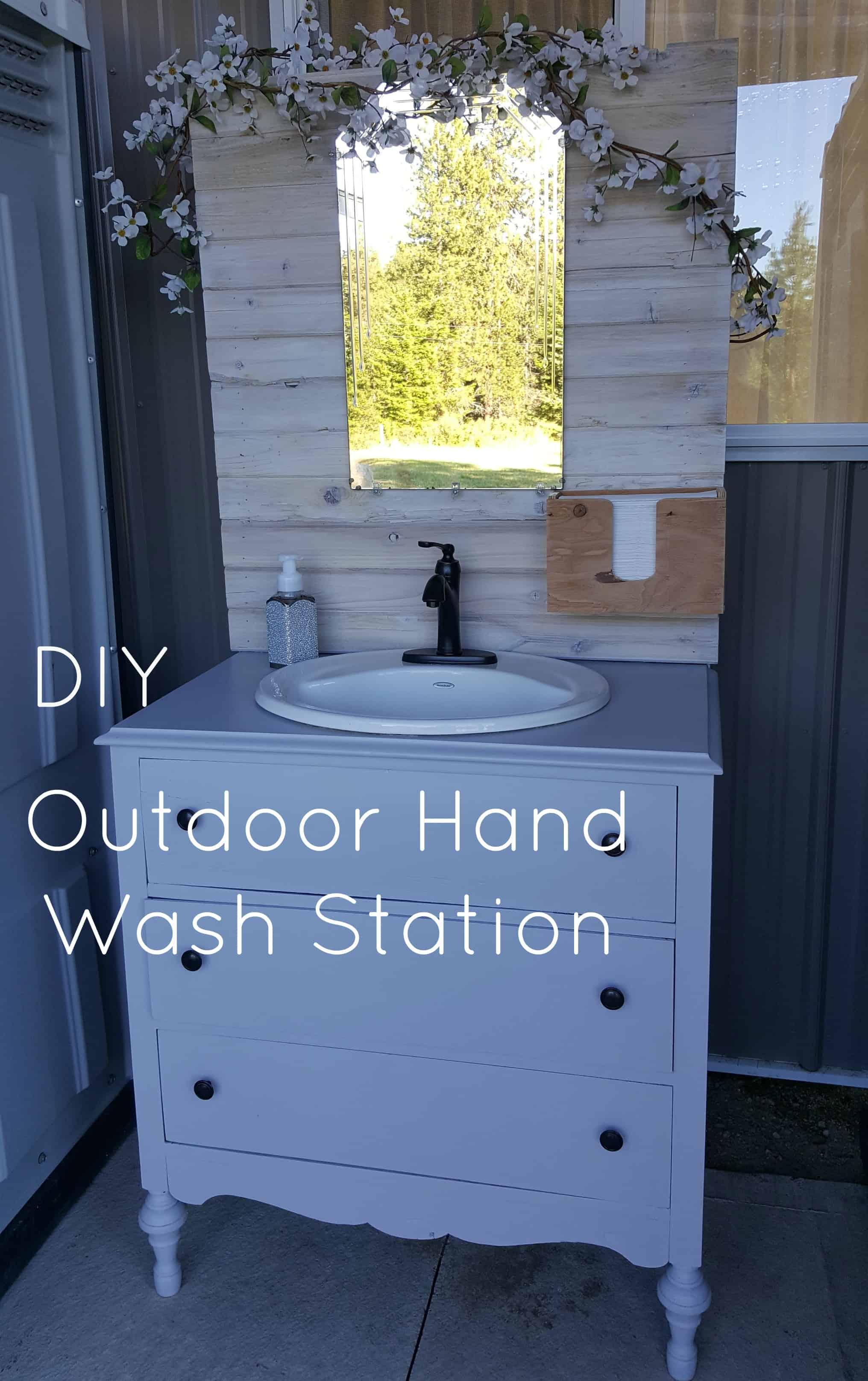 Diy Outdoor Hand Wash Station Denison Ridge Weddings