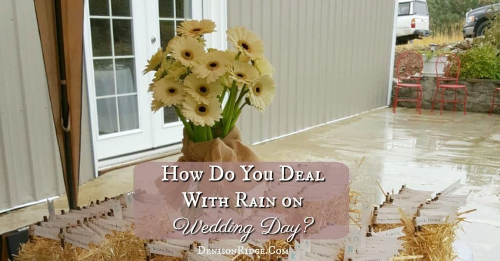 How Do You Deal With Rain on Wedding Day?