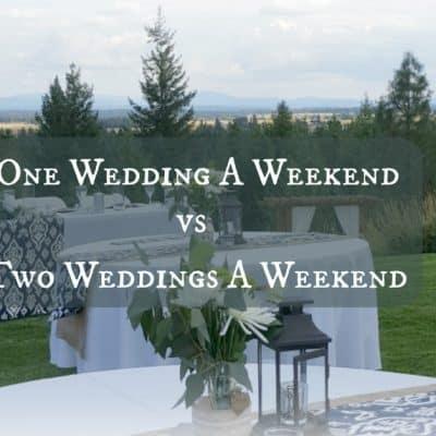 HB:019 One Wedding a Weekend vs Two Weddings a Weekend