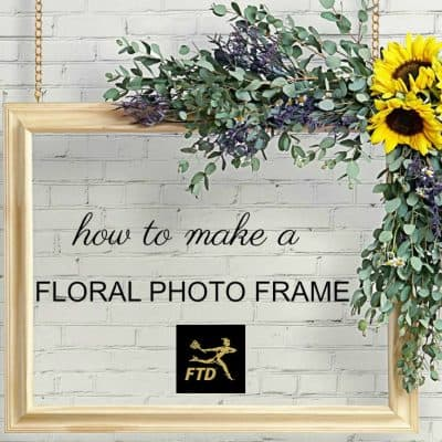 DIY Floral Photo Booth Frame