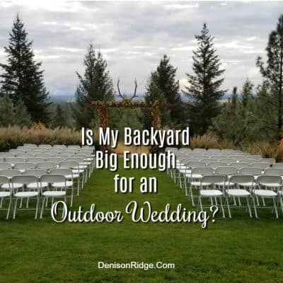 Is My Backyard Big Enough for an Outdoor Wedding?