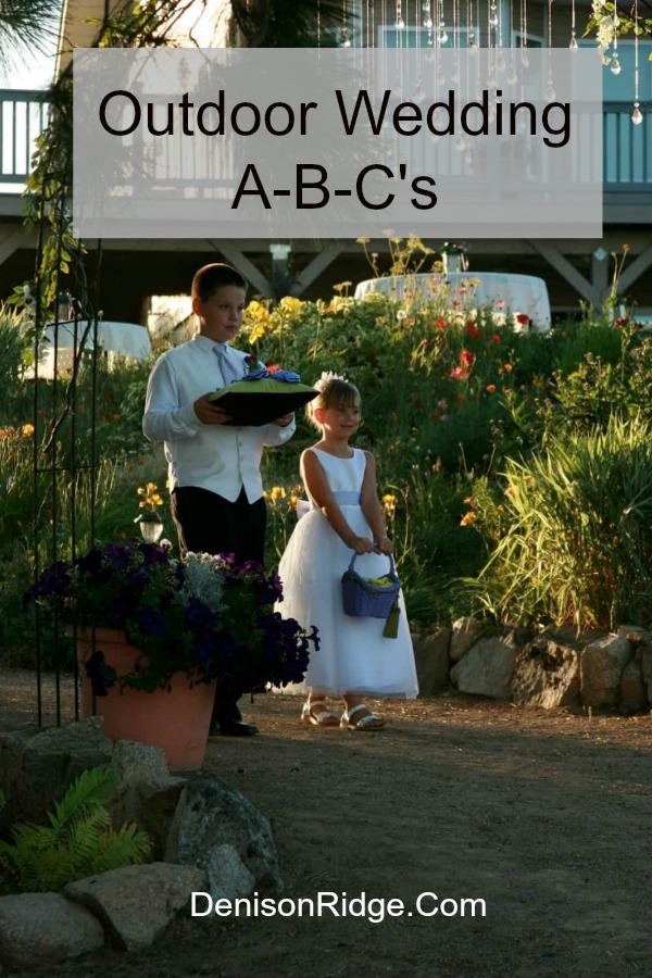 Outdoor Wedding A-B-C's