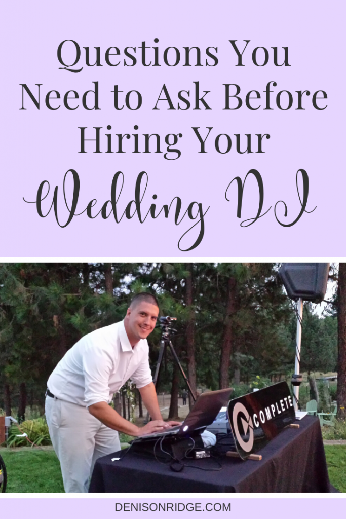 Questions to Ask - Before you Hire Your Wedding DJ / The wedding DJ, plays and important roll in the routine on wedding day.