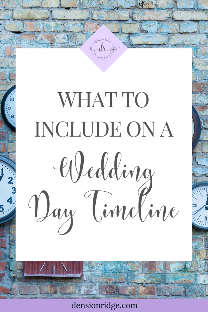 How to Solve This Giant Problem - Wedding Day Timeline