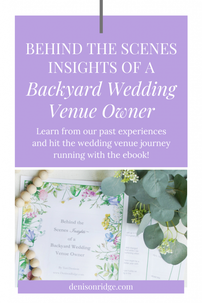 Behind the Scenes Insights of a Backyard Wedding Venue Owner