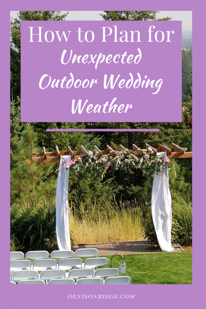 How to Plan for Unexpected Outdoor Wedding Weather