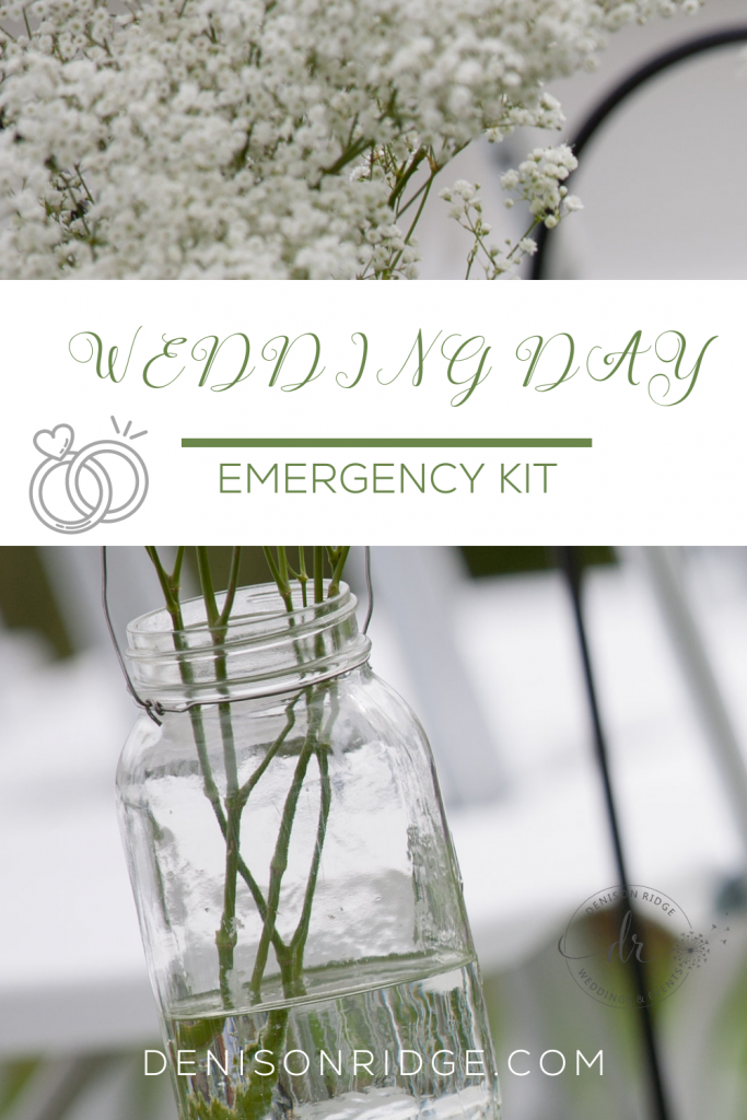 Creating a Wedding Day Emergency Kit