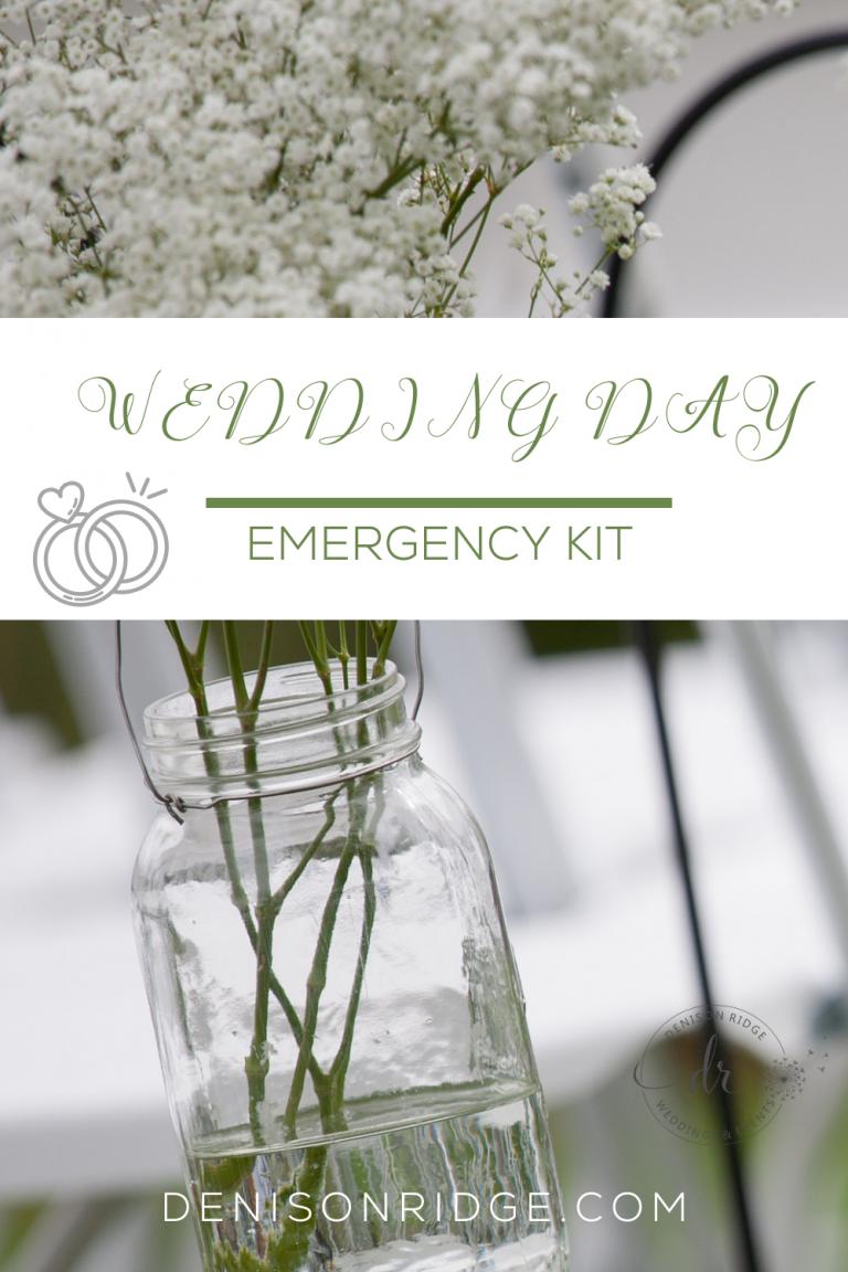 Creating a Wedding Day Emergency Kit