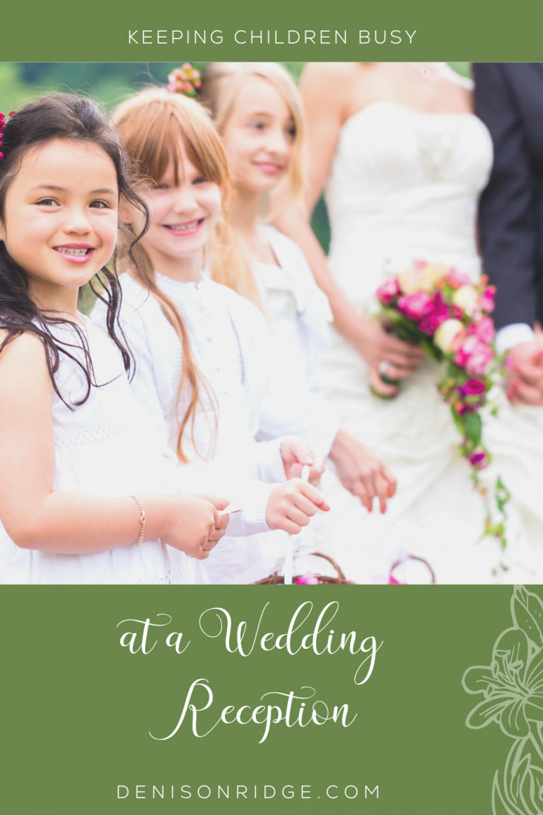 Keeping Children Busy at a Wedding Reception