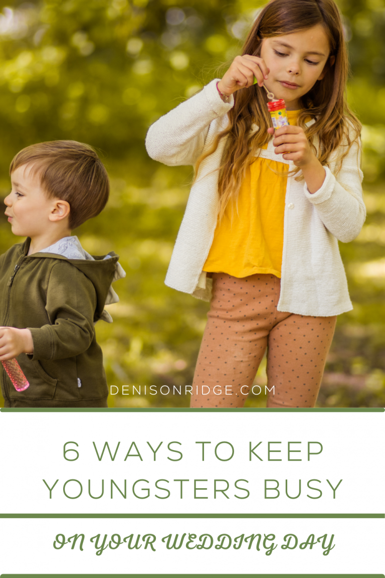 6 Ways to Keep Youngsters Busy on Your Wedding Day